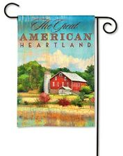 "The Great American Heartland Country Farm Red Barn 12.5"" x 18"" Small Banner Flag"