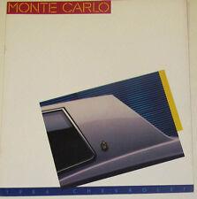 1986 Chevrolet Monte Carlo & SS Super Sport Brochure mx7161