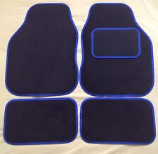 CAR FLOOR MATS- BLACK WITH BLUE TRIM FOR MINI COOPER CLUBMAN ONE FIRST