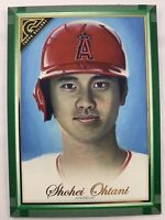 2019 Topps Gallery #25 SHOHEI OHTANI Green Parallel SP 37/99 Los Angeles Angels