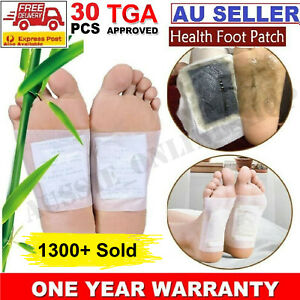 30Pcs Detox Foot Patch Pads Natural plant Herbal Toxin Removal Weight loss Patch