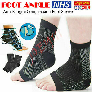 2 x Plantar Fasciitis Socks Compression Foot Arch Support Pain Ankle Relief Pair