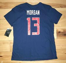 Womens The Nike Tee US Soccer Team Alex Morgan T-Shirt Jersey Size Large L New