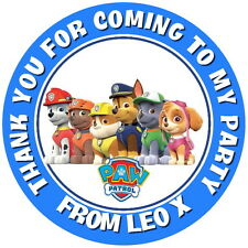 24 PAW PATROL,PERSONALISED GLOSS BIRTHDAY PARTY FAVOR BAG, SWEET CONE STICKERS,
