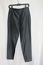 SHAMASK NEW Black Silk Taffeta Back Zip Pants Size 4