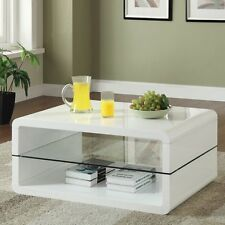 L-Occassionals-Coffee Table - Coffee Table (Glossy White) 703268