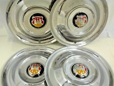 """1950 1951 1952 1953 OLDSMOBILE HUBCAPS 15"""" WHEEL COVERS SET OF FOUR 4"""