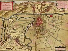 Le mappe vintage Torino Italia Città Piano circonda ART PRINT MP5028A