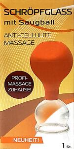 Schröpfmassage Schröpfglas mit Saugball ANTI-CELLULITE MASSAGE
