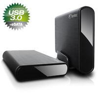 8TB  Fantec DB-ALU3e  USB 3.0 + eSATA Case, externe Festplatte