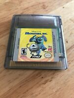 Monsters, Inc. (Nintendo Game Boy Color, 2001) With Dust Cover