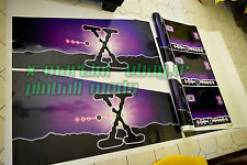 RARE Pinball Decals The X-Files 3 PC Side Art Decal, Xfiles, X-file Cabinet SEGA