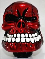 Universal Car Manual Gear Knob Shift Shifter Wicked Carved Head Skull 70MM Red