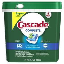 Cascade Complete ActionPacs Gel Dishwasher Detergent Fresh Scent Dawn - 78 ct.
