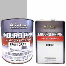 1 Gallon Kirker Enduro Prime Epoxy Gray Primer EP611 & Catalyst EPC611 - Auto