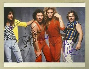 VAN HALEN Band 4x Signed 11x14 Photo w/ Eddie Van Halen & David Lee Roth JSA LOA