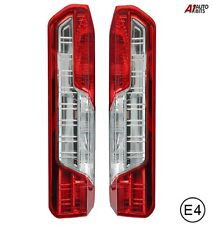 Pair Of Lh + Rh Ford Transit Rear Tail Lights Lamp Lens 2014+ 1855335 1870425 E4