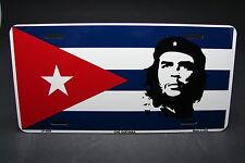 CUBA FLAG AND CHE GUEVARA METAL ALUMINUM CAR LICENSE PLATE TAG