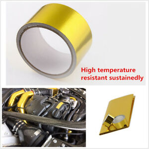"Universal 20""X20"" Engine 1200°f Continous Adhesive Reflective Head Shield Tape"