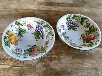 "Tabletops Unlimited Sweet Orchard Soup Fruit Cereal Bowls 7"" in Kitchen Set of 2"