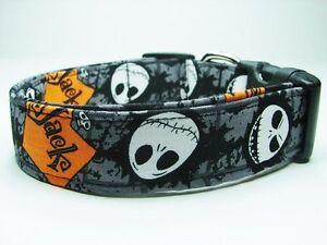 Nightmare Before Christmas Jack Skellington Skulls Dog Collar