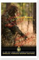 United States Special Forces 175 Grains Of Diplomacy Sniper School Poster