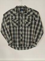 Wrangler Men's Large Western Shirt Long Sleeve Pearl Snap