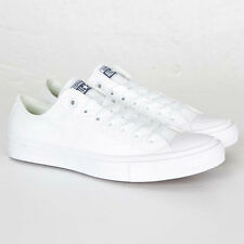 Converse All Star Chuck Taylor II 2 (Size 11 US), White Low, Canvas Men's Shoes