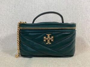 NEW Tory Burch Pine Tree Kira Chevron Mini Vanity Case/Shoulder Bag $358