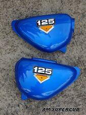 Honda CB100 CB125S CD125S Side Cover & Emblem Left &Right  Pair BLUE / New