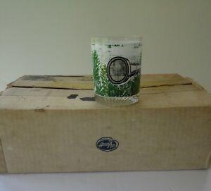 8 Midcentury Mint Box Houze Art Glass Deer Hunter Old Fashioned Glasses Barware