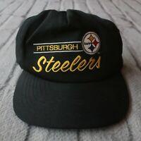 Vintage 90s Pittsburg Steelers Snapback Hat by American Needle Cap