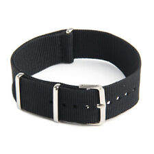 Watch Strap Band Military Army Nylon Canvas Divers G10 Mens Colour:Black Widt 1H