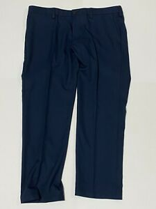 Haggar H26 Men's Straight Fit 4 Way Stretch Dress Pants Navy Size 40x30 NWT