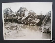 ORIGINAL WW2 OFFICIAL US PRESS PHOTOGRAPH  The Aftermath 1945 Tankdozer, Germany