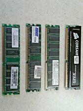 LOT OF 4 - 512MB PC2700U DDR DESKTOP MEMORY - 4 PIECES @ 512MB EACH - DDR1 - 2GB