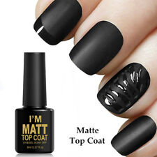 8ml Nail No-Wipe Matte Top Coat UV Gel Polish Nail Art Soak Off Manicure Varnish