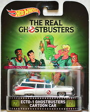 HOT WHEELS RETRO ENTERTAINMENT THE REAL ECTO-1 GHOSTBUSTERS CARTOON CAR