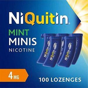 NiQuitin Minis Mint 4mg Nicotine Lozenges - 100 Pack - Help Stop Smoking