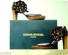 Sonia  Rykiel Paris Leather Shoes Sz 7 Made in Italy Great Condition!