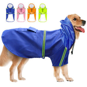 S-5XL Boxer Dog Raincoat with Hood Waterproof Rainwear Yellow Small Medium Large