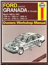 FORD GRANADA & SCORPIO MK3 1.8 2.0 2.4 2.8 2.9 PETROL '85-93 OWNER REPAIR MANUAL