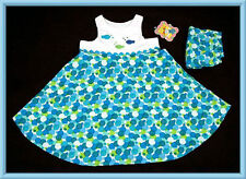 PICTURE ME GIRLS SIZE 4T DRESS NWT BLUE TROPICAL FISH TINY BUBBLES NEW