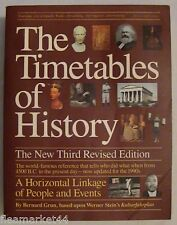 The Timetables of History by Bernard Grun The new Third Revised Edition 1991