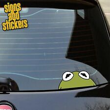 1x Kermit la Rana PEEPER adesivo finestra PARAURTI decalcomania JDM Euro Dub JDM BOMBA VAG