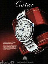PUBLICITE ADVERTISING 115  2009  Cartier  montre  Ballon Bleu  acier