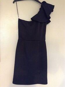 * STUNNING * Miss Selfridge Black Bow Dress Size 10 💕
