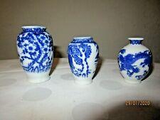 3 Vasen Porzellan China Blumenvase klein E 3