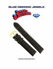 Speidel 18mm Gator/Lizard Grain Brown 755630 Water Resistant Hypo-allergy Cheap