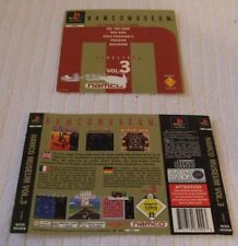 PLAYSTATION ONE GAME INLAY/ARTWORK COVERS  *** NAMCO MUSEUM VOL.3 *** USED